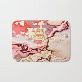 pastel marble abstract digital art Bath Mat