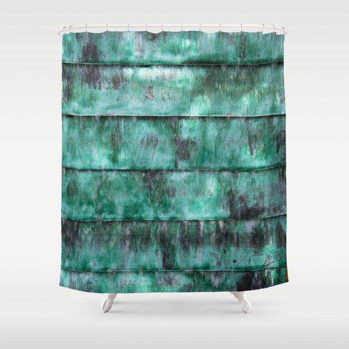 Glazed water flow Shower Curtain