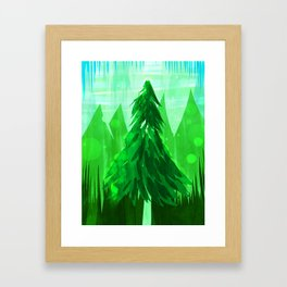 Tall Greens Framed Art Print