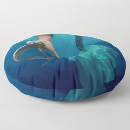 Mermaid with large scales Floor Pillow