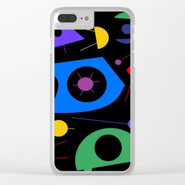 Abstract #88 Space Debris Clear iPhone Case