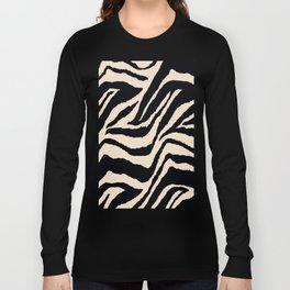 Zebra Animal Print Black and off White Pattern Long Sleeve T-shirt