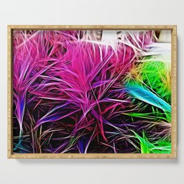 Abstract Fire - Vibrant Flora Serving Tray