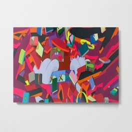"KAWS, ""Silent City"" 2011 Metal Print"