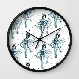 Black Widow Burlesque Doll Wall Clock