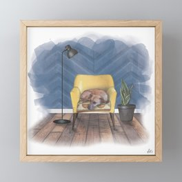 Home is Where Your Dog is Framed Mini Art Print