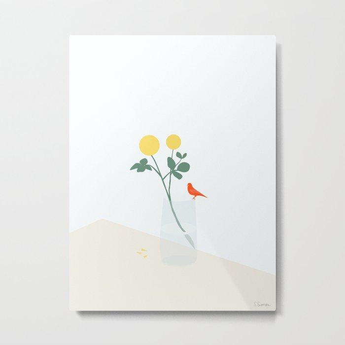 HUN KAN LIDE BLOMSTER (She likes flowers.) Metal Print