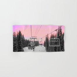 Ski Lift Sunset Shot on iPhone 4 Hand & Bath Towel