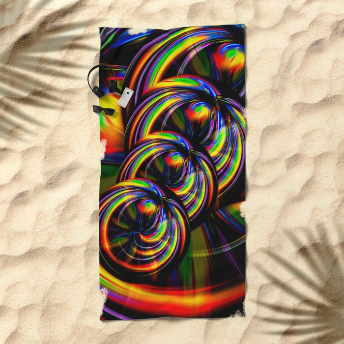 Creations in the color spectrum of the rainbow 3 Beach Towel