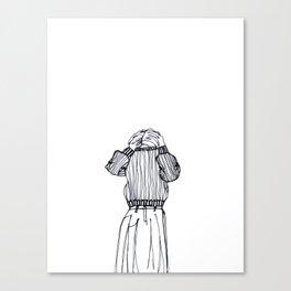 Dressing/undressing Canvas Print