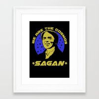 carl sagan Framed Art Prints featuring Carl Sagan we are the cosmos by Buby87