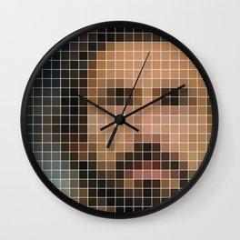 Andrea Pirlo Pixel Art Print Wall Clock