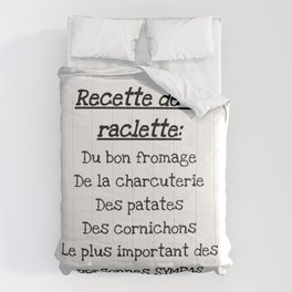 Raclette recipes Comforters
