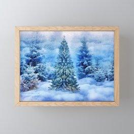 Christmas tree scene Framed Mini Art Print