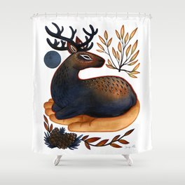 The Spirit of the Elk Shower Curtain