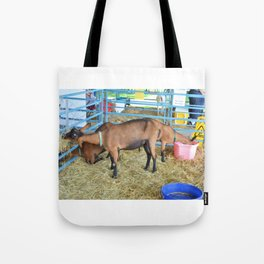 Family of Domestic Goats Tote Bag
