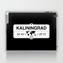 Kaliningrad Oblast with World Map GPS Coordinates and Compass Laptop & iPad Skin