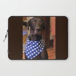 Patriotic Great Dane Laptop Sleeve