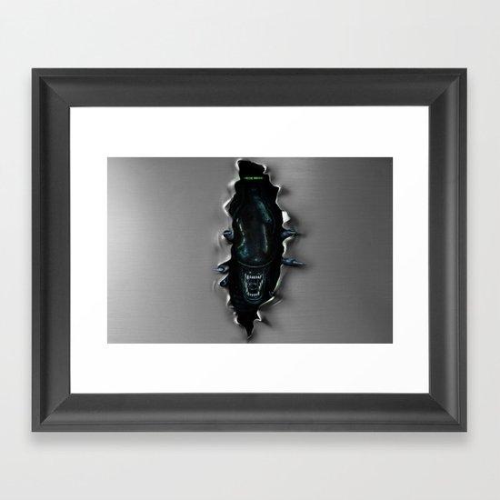 ...end of transmission.-* Framed Art Print