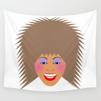 tina crespo Wall Tapestries featuring Greatest Tina by tuditees