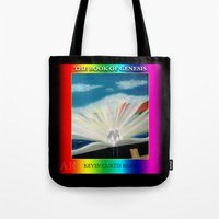 bible Tote Bags featuring THE BIBLE by KEVIN CURTIS BARR'S ART OF FAMOUS FACES