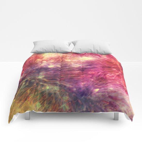 Springtime colorful floral symphony  Comforters