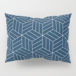 Japanese inspired blue pattern Pillow Sham