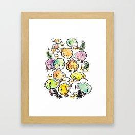 Kiwi Family Framed Art Print