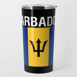 Barbados,flag of Barbados Travel Mug