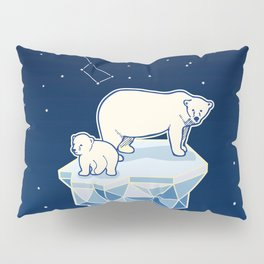 Polar bears on iceberg Pillow Sham