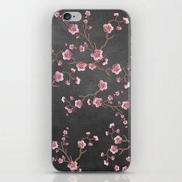 SAKURA LOVE - GRUNGE BLACK iPhone Skin