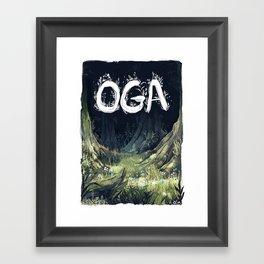Oga Framed Art Print