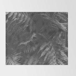 Colorless Fern Throw Blanket
