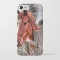 pony iPhone & iPod Cases featuring Pony  by Darren Wilkes Fine Art Images