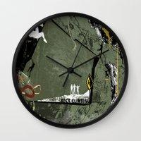 climbing Wall Clocks featuring Rock Climbing by Robin Curtiss