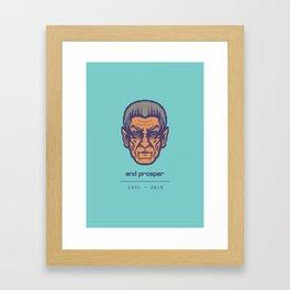Live long.. Framed Art Print