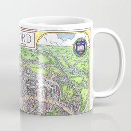 OXFORD university map ENGLAND dorm decor Coffee Mug