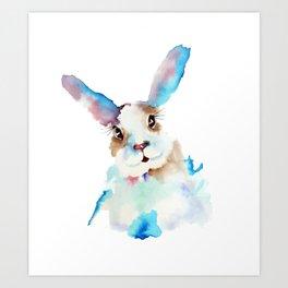 Blue Buns Art Print
