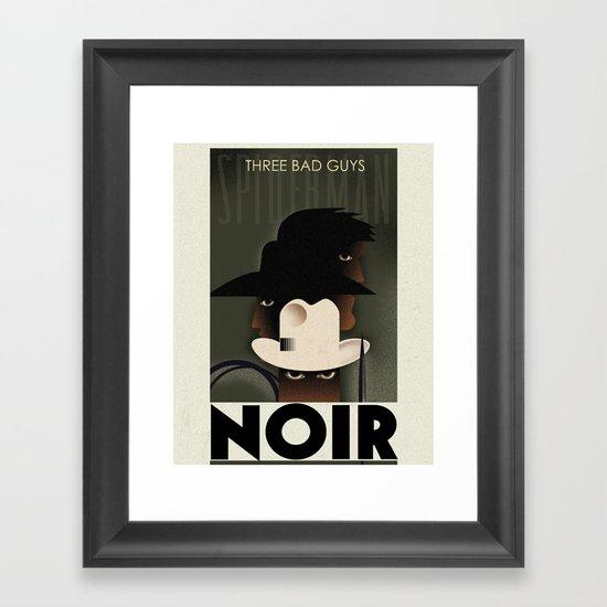 CASSANDRE SPIRIT - Spidey Noir2 Framed Art Print