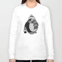 penguin Long Sleeve T-shirts featuring Penguin by mangulica illustrations