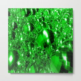 Green Ornaments Metal Print