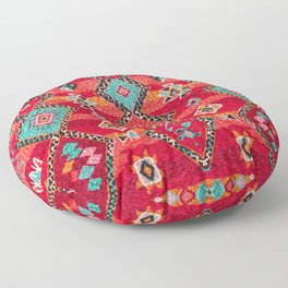 N197 - Red Oriental Heritage Bohemian Traditional Moroccan Style Floor Pillow