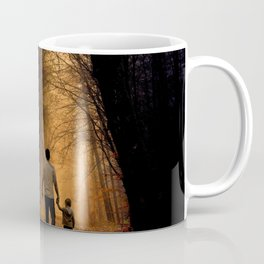 Father and Son in the Woods Coffee Mug