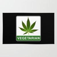vegetarian Area & Throw Rugs featuring VEGETARIAN Weed by Spyck