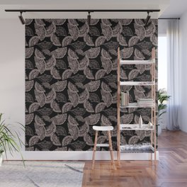 Fan black and white scattered Wall Mural