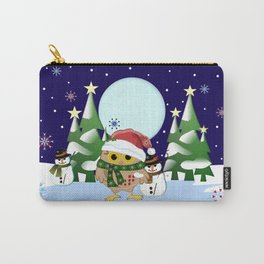 Santa Owl and his Snowman friend Carry-All Pouch