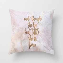 She is Fierce - Marble Throw Pillow