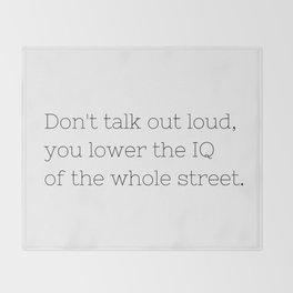 Don't talk - Sherlock - TV Show Collection Throw Blanket