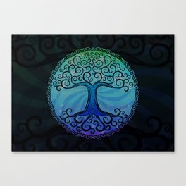 Tree of Life - Cool Blue Canvas Print