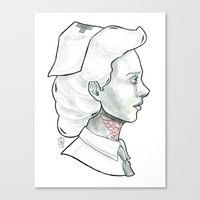 nurse Canvas Prints featuring Nurse by Luc Nakashoji